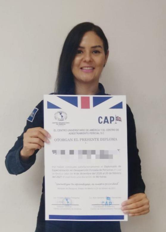 Reciben oficiales de la PESP Sonora, capacitación en Desaparición Forzada