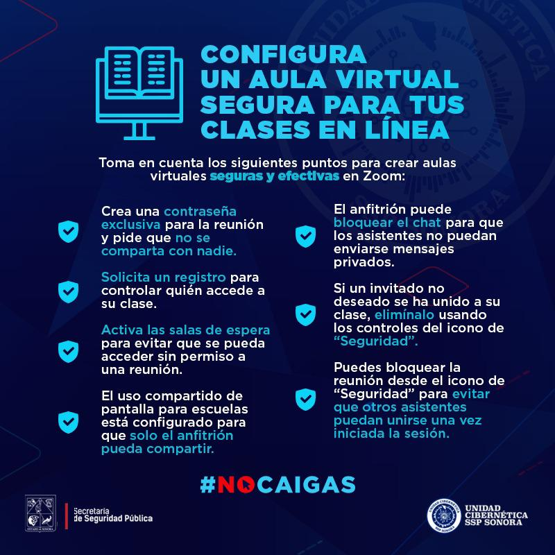 Emite Unidad Cibernética de Sonora recomendaciones para celebrar clases en línea seguras