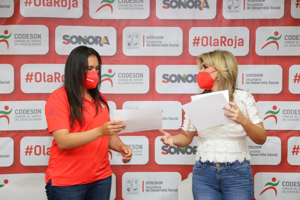 Premia Gobernadora Pavlovich a atletas olímpicos sonorenses que participaron en Tokio 2020