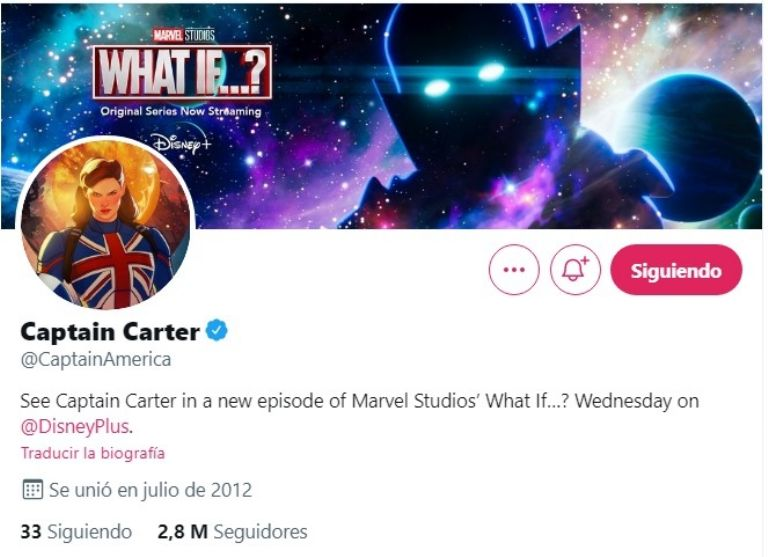 Capitana Carter.
