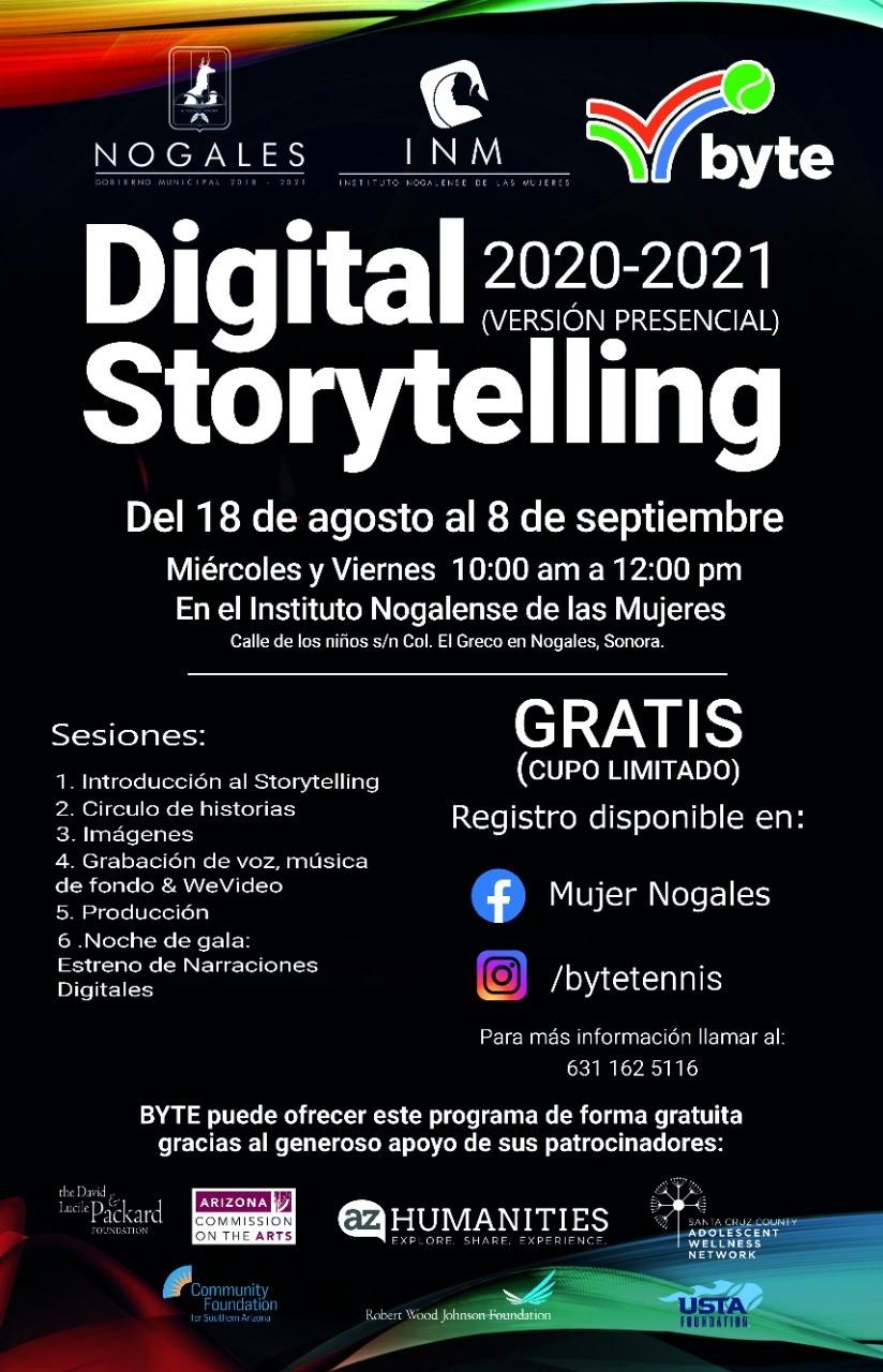 """El INM lanza convocatoria para curso-taller """"Digital Storytelling 2020-2021"""""""
