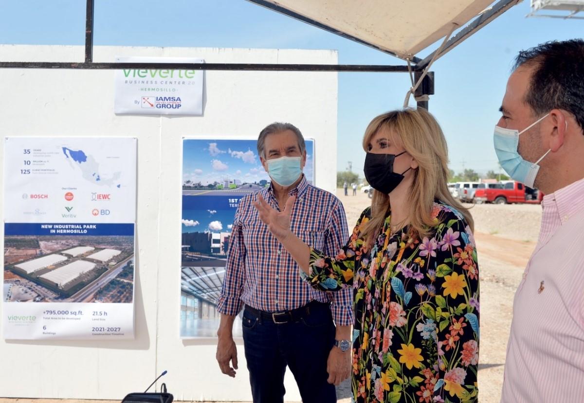 Sonora sigue creciendo con la construcción de un nuevo parque industrial: Gobernadora Pavlovich